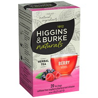 Higgins & Burke Naturals Berry Vines Tea, 20/Bx