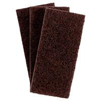 3M 8541 Doodlebug Scrub'N Strip Pads, Brown, 4 5/8