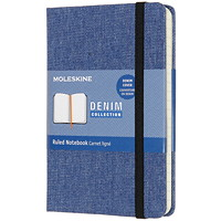 Moleskine Limited Edition Denim Notebook, Antwerp Blue, 3 1/2