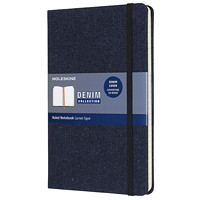Moleskine Limited Edition Denim Notebook, Prussian Blue, 5