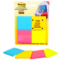 Post-it Super Sticky Full-Adhesive Notes in Rio De Janeiro Colour Collection, Unlined, 2