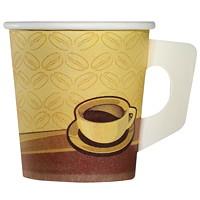 Café Express Paper Cups, With Handle, Beige, 4 Oz., 20/PK