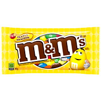 M&M's Peanut Milk Chocolate Candy Pieces, 49 g, 24/BX