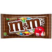 M&M's Milk Chocolate Candy Pieces, 48 g, 24/BX