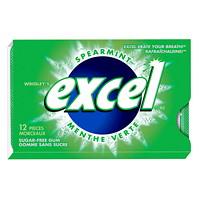 Gomme sans sucre à la menthe verte Excel Wrigley's, paquets de 12, boîte de 12