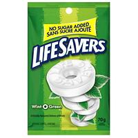 Bonbons durs à la menthe sans sucre ajouté Wint-O-Green LifeSavers, 70 g