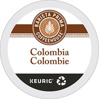 Barista Prima Coffeehouse Single-Serve Coffee K-Cup Pods, Medium Dark Colombia, 24/BX