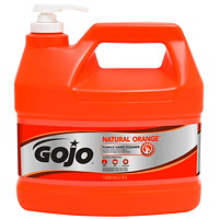 Gojo Natural Orange Pumice Hand and Surface Cleaner, Orange Citrus Scent, 3.78 L, 2/CS