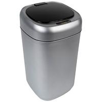 Royal Sovereign Motion Sensor Waste Bin, Silver with Black Lid, 9 L