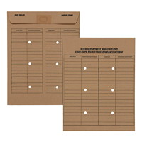 Grand & Toy Inter-Department Recycled Double-Sided Envelopes, Natural Kraft, 10