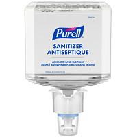 Mousse douce et libre antiseptique pour les mains pour milieu de santé Avancé Purell, 70% d'alcool, pour distributeurs ES4, 1200ml, caisse de 2
