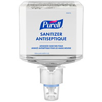 Purell Healthcare Advanced Hand Sanitizer Gentle & Free Foam, 70% Alcohol Content, For ES6 Dispensers, 1,200 mL, 2/CT