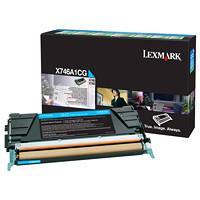 Cartouche de toner à rendement standard Lexmark X746, X748 Programme de retour (X746A1CG), cyan