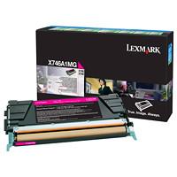 Cartouche de toner à rendement standard Lexmark X746, X748 Programme de retour (X746A1MG), magenta