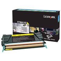 Cartouche de toner à rendement standard Lexmark X746, X748 Programme de retour (X746A1YG), jaune
