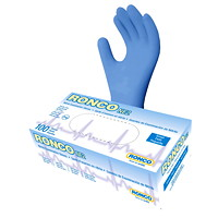 Ronco NE2 Nitrile Disposable Examination Gloves, Blue, Small, 100/BX