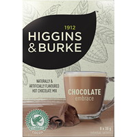 Higgins & Burke Chocolate Embrace Hot Chocolate Mix, 30 g, 8/BX