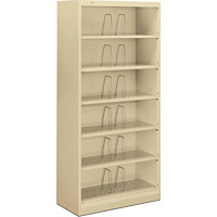 HON Brigade 600 Series Open 6-Shelf High-Density Filing Cabinet, Putty, Letter Size