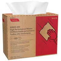 Chiffons à haut rendement Série 600 Tuff-Job Cascades PRO, boîte distributrice, blanc, boîte de 150