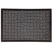 Tapis antifatigue ajouré FloorTex, noir, 36 po x 60 po