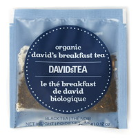 DAVIDsTEA Sachets Boxed Tea, Organic, Breakfast, 25/Box