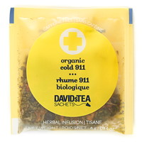 DAVIDsTEA Sachets Boxed Tea, Organic, Cold 911, 25/Box