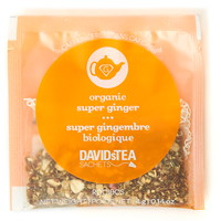 DAVIDsTEA Sachets Boxed Tea, Organic, Super Ginger, 25/Box