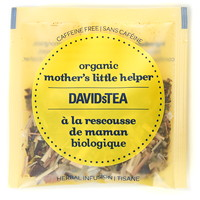 DAVIDsTEA Sachets Boxed Tea, Organic, Mother's Little Helper, 25/Box