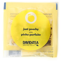 DAVIDsTEA Sachets Boxed Tea, Just Peachy, 25/Box