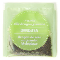 DAVIDsTEA Sachets Boxed Tea, Organic, Silk Dragon Jasmine, 25/Box