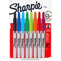 Sharpie Retractable Permanent Markers, Assorted Colours, Fine Tip, 8/PK