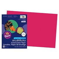 Papier de bricolage à haut grammage SunWorks Pacon, écarlate, 12po x 18po, emb. de 50