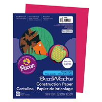 Pacon SunWorks Heavyweight Construction Paper, Scarlet Red, 9