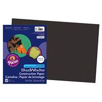 Papier de bricolage à haut grammage SunWorks Pacon, noir, 12po x 18po, emb. de 50