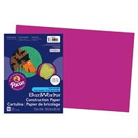 Papier de bricolage à haut grammage SunWorks Pacon, magenta, 12po x 18po, emb. de 50