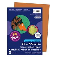 Papier de bricolage à haut grammage SunWorks Pacon, brun, 9po x 12po, emb. de 50