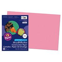 Papier de bricolage à haut grammage SunWorks Pacon, rose, 12po x 18po, emb. de 50