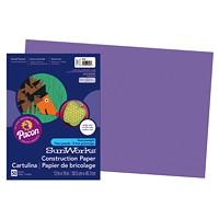 Papier de bricolage à haut grammage SunWorks Pacon, violet, 12po x 18po, emb. de 50