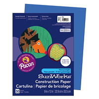 Pacon SunWorks Heavyweight Construction Paper, Blue, 9
