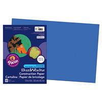 Papier de bricolage à haut grammage SunWorks Pacon, bleu, 12po x 18po, emb. de 50