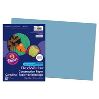 Papier de bricolage à haut grammage SunWorks Pacon, bleu pâle, 12po x 18po, emb. de 50