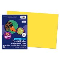 Papier de bricolage à haut grammage SunWorks Pacon, jaune, 12po x 18po, emb. de 50