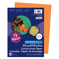 Pacon SunWorks Heavyweight Construction Paper, Orange, 9
