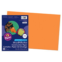 Pacon SunWorks Heavyweight Construction Paper, Orange, 12