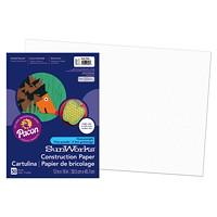 Papier de bricolage à haut grammage SunWorks Pacon, blanc, 12po x 18po, emb. de 50