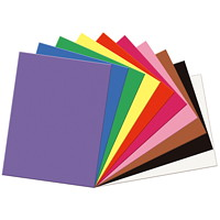 Papier de bricolage à haut grammage SunWorks Pacon, couleurs variées, 18po x 24po, emb. de 50