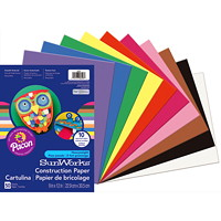 Pacon SunWorks Heavyweight Construction Paper, Assorted Colours, 9