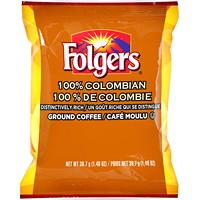 Sachets de café moulu Folders, 100% de Colombie, 1,4oz, boîte de 42