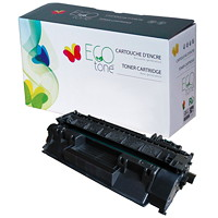 EcoTone Black Standard Yield Remanufactured HP CE505A Toner Cartridge (RHP05A)