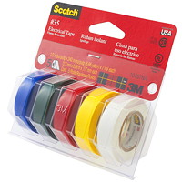 Scotch #35 Vinyl Colour Coding Electric Tape, Assorted Colours, 7 mil, 1/2